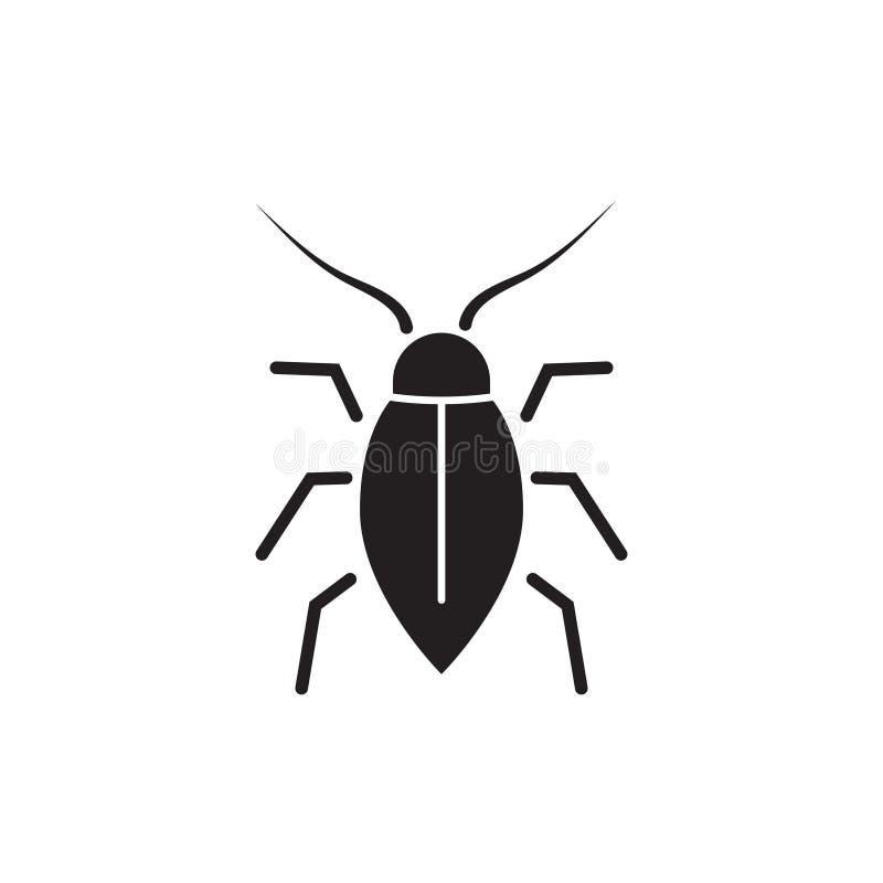 Karakan ikona, insekt ikona, pluskwa odizolowywał ilustrację ilustracja wektor