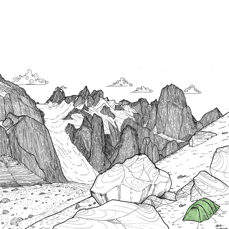 Karakoram иллюстрация штока