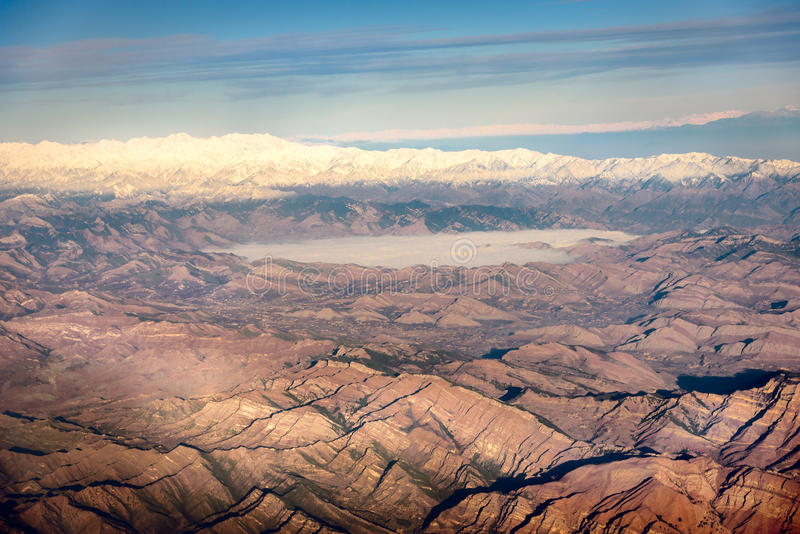 Karakoram bergskedja i Pakistan arkivfoto