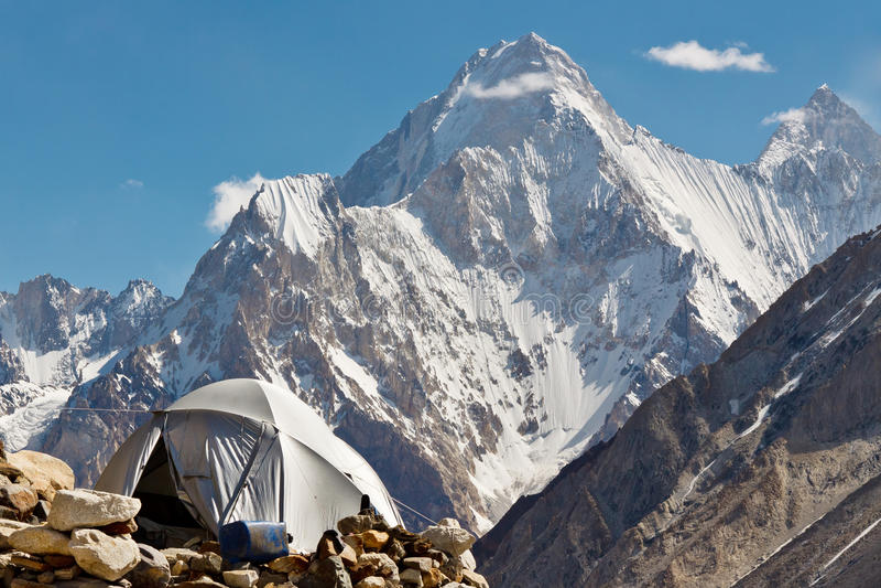 Karakorumkamp, Pakistan royalty-vrije stock foto