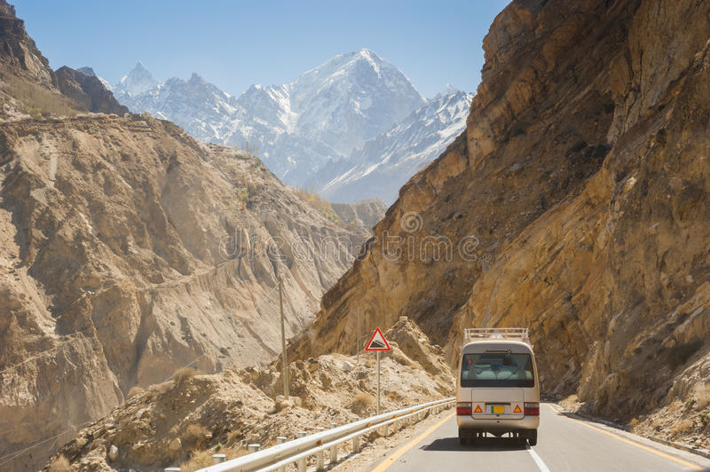 Karakorumweg in Pakistan royalty-vrije stock fotografie