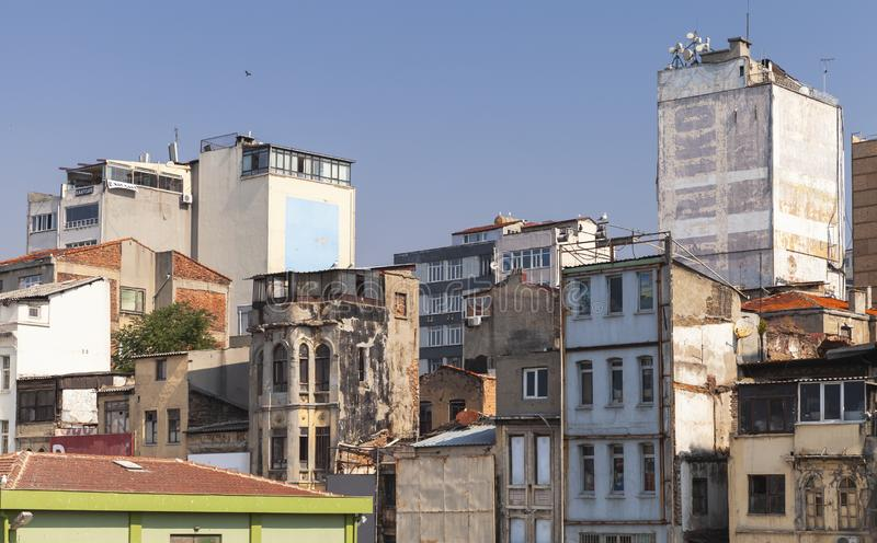 Karakoy cityscape, Istanbul. Istanbul, Turkey - July 1, 2016: Karakoy cityscape, commercial quarter in the Beyoglu district of Istanbul, Turkey, located at the stock photos