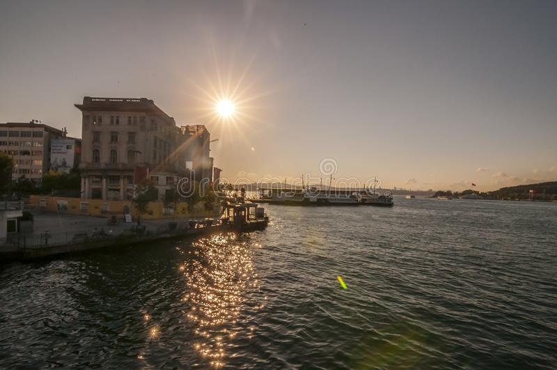Karakoy district of Beyoglu, Istanbul royalty free stock image