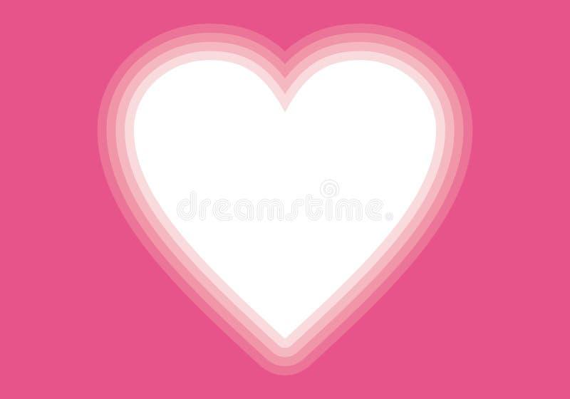 Karaktärsteckning för hjärta för Valentin dag rosa royaltyfri illustrationer
