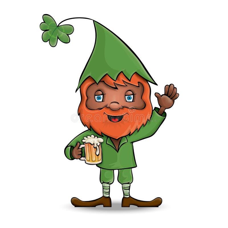 Karakter Heilige Patrick leprechaun Vector stock illustratie