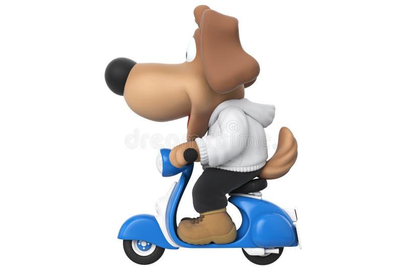 Karakter van de beeldverhaal het gelukkige hond, zijaanzicht royalty-vrije illustratie