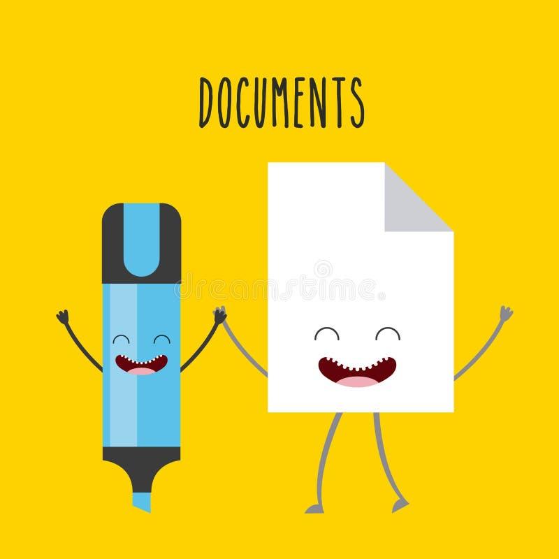 karakterobjecten ontwerp royalty-vrije illustratie