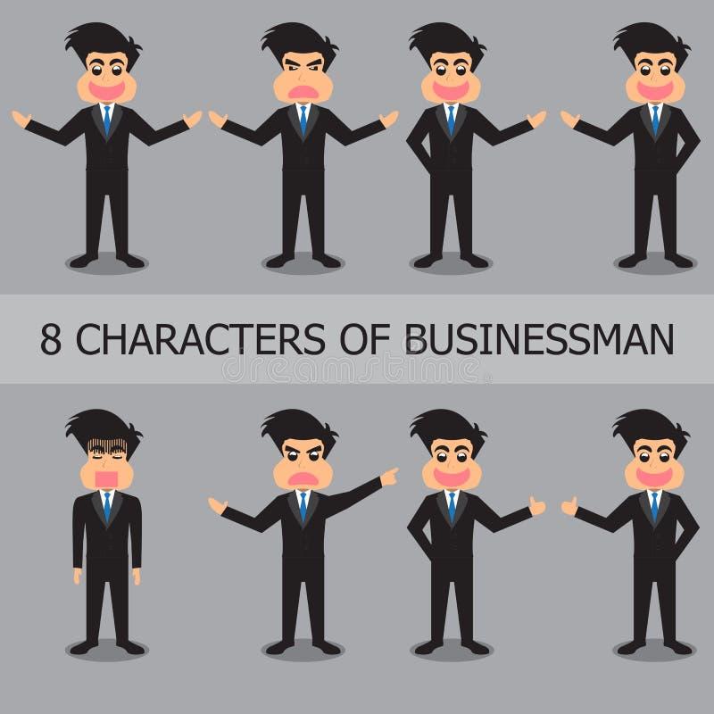 Karakters van Zakenman Set royalty-vrije illustratie