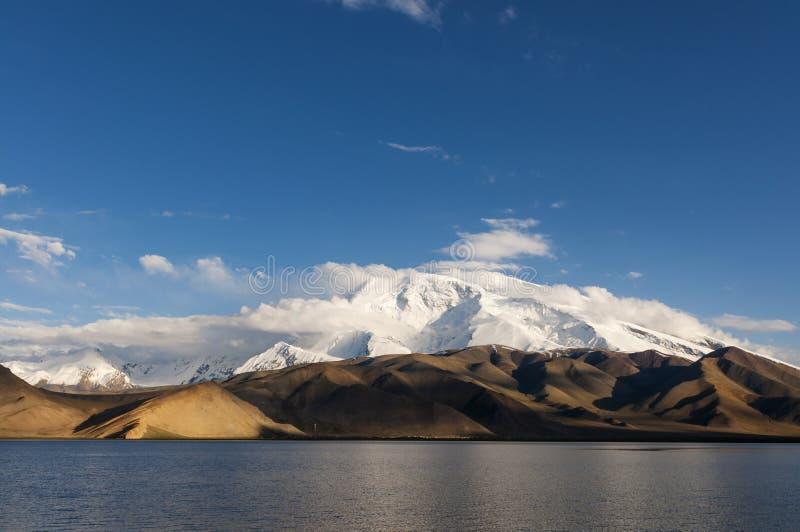 The Karakul Lake in the province of Xinjiang in Northwestern China stock image