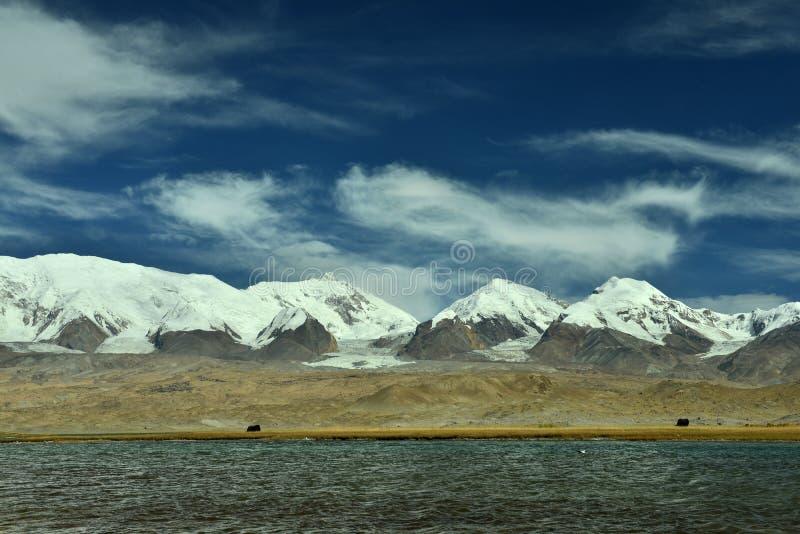 Karakul sjö i Pamirs royaltyfria foton