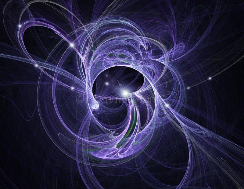 karambolu atomowy fractal ilustracja wektor
