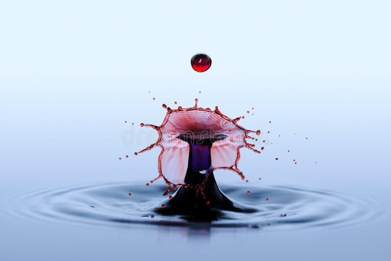 Karambolu skutek dwa spadają wodnej kropli - splatter obraz royalty free
