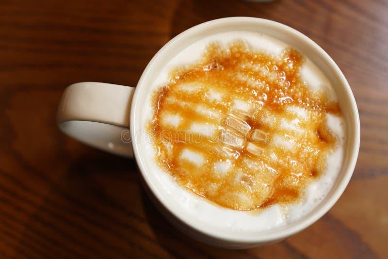 Karamell Lattekaffee stockbilder