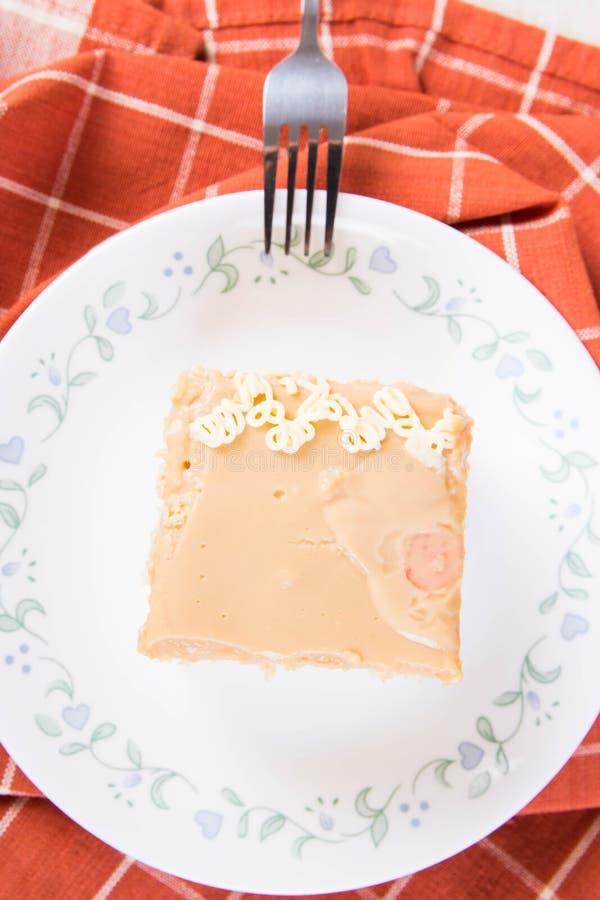 Karamellkuchen lizenzfreie stockfotos