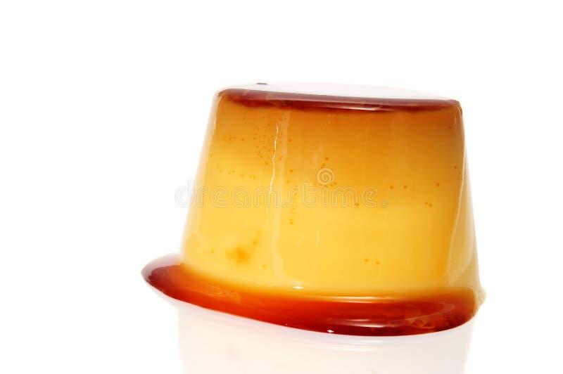 Karamellpudding stockfotos