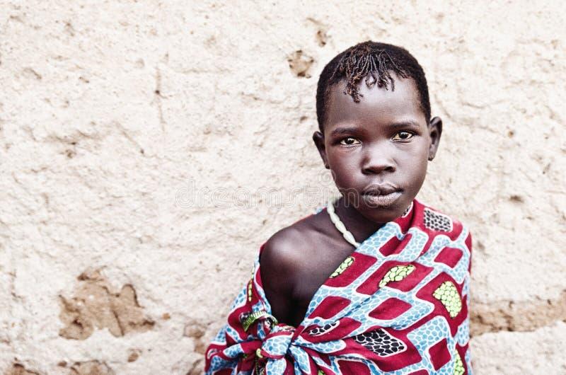 Karamojong dziecko w Uganda zdjęcia stock