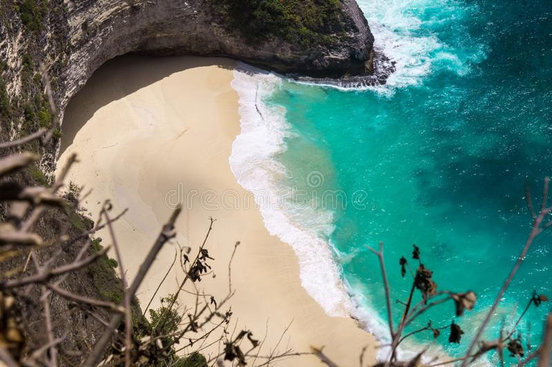 Karang Dawa Viewpoint, Nusa Penida, Bali. Hidden beach royalty free stock images