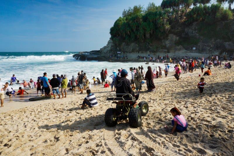 Karangbolong海滩Pacitan东爪哇省印度尼西亚 库存图片