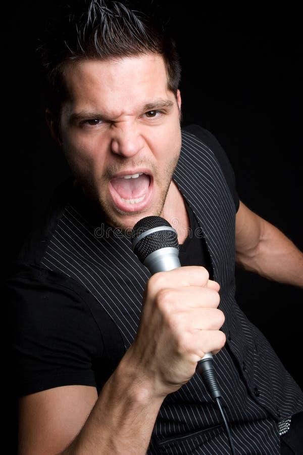 karaoke άτομο στοκ φωτογραφία με δικαίωμα ελεύθερης χρήσης