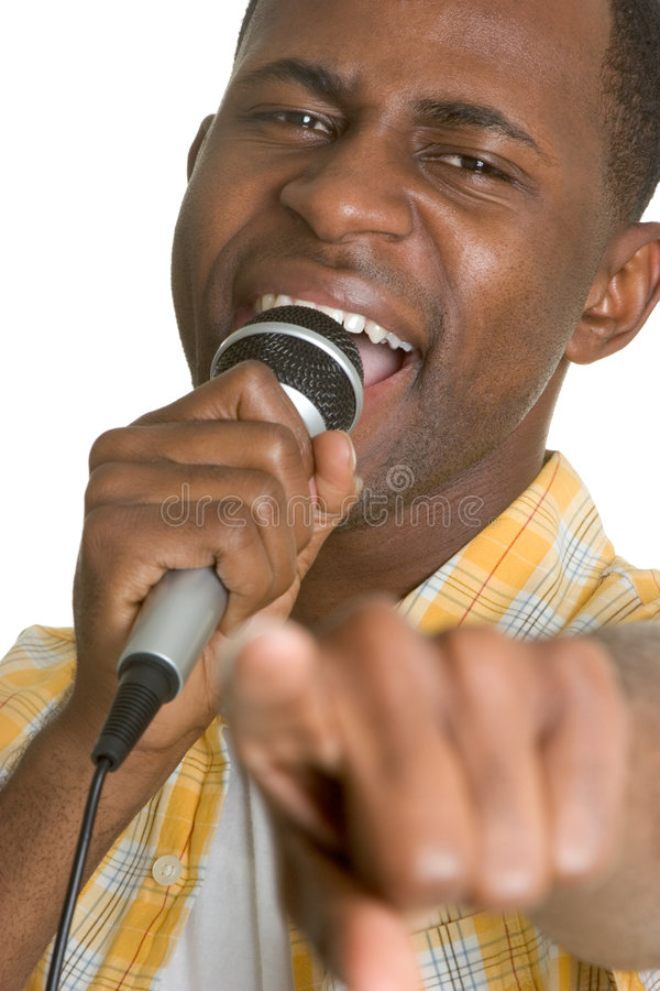 karaoke άτομο στοκ φωτογραφία