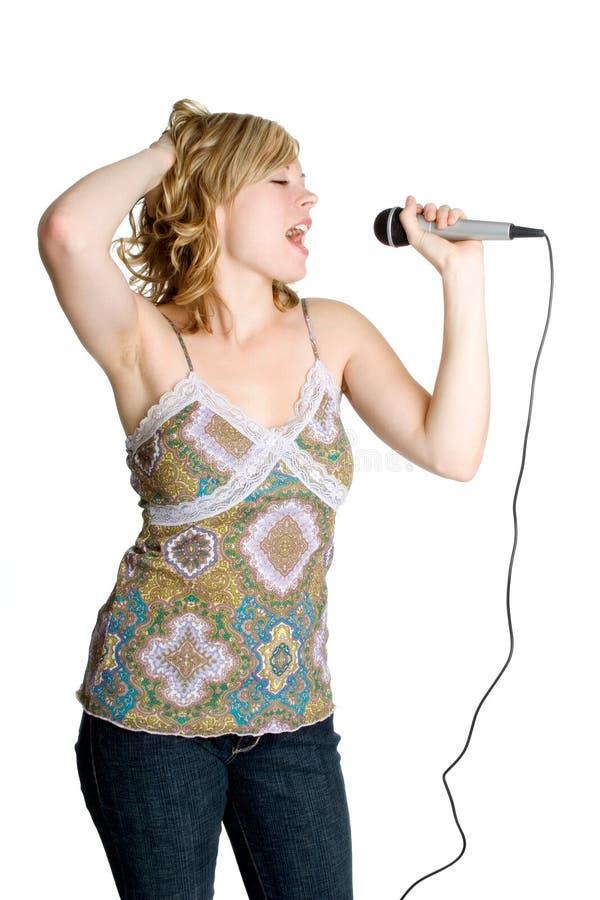 karaoke κοριτσιών στοκ εικόνα με δικαίωμα ελεύθερης χρήσης