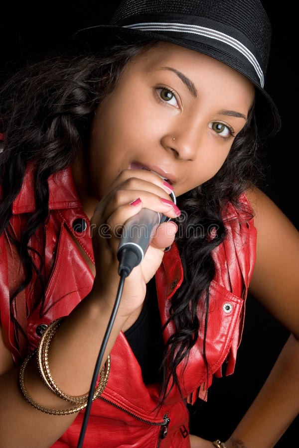 karaoke τραγουδιστής στοκ εικόνες