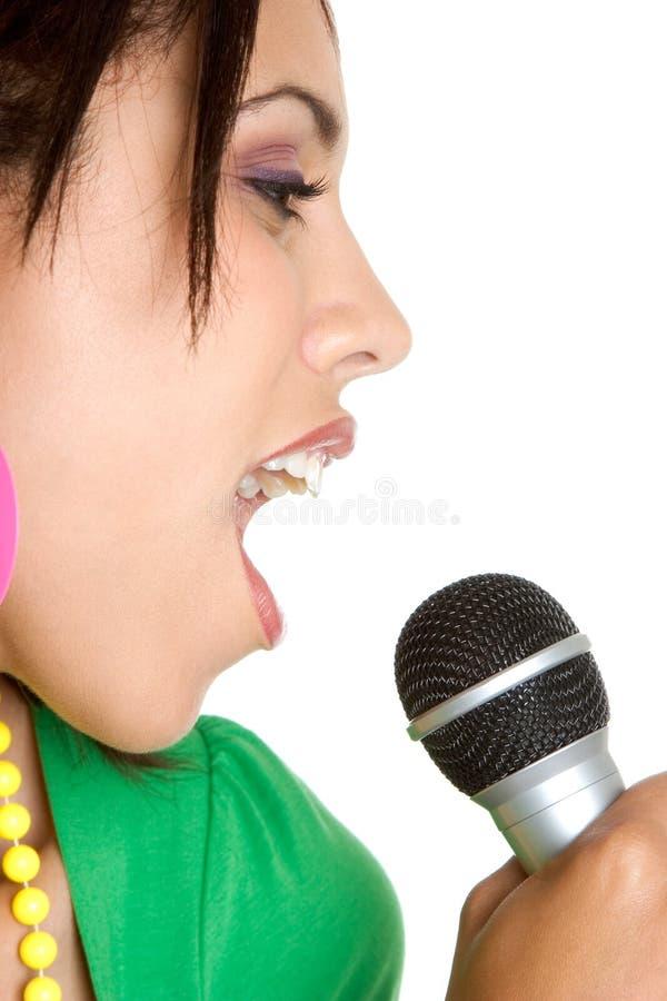 karaoke τραγουδιστής στοκ φωτογραφίες