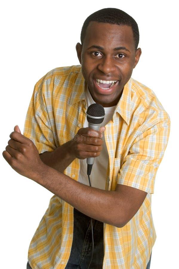 karaoke τραγούδι ατόμων στοκ εικόνα