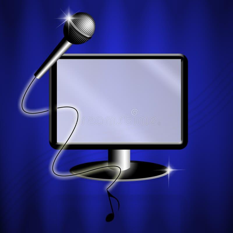 Karaoke stock illustratie