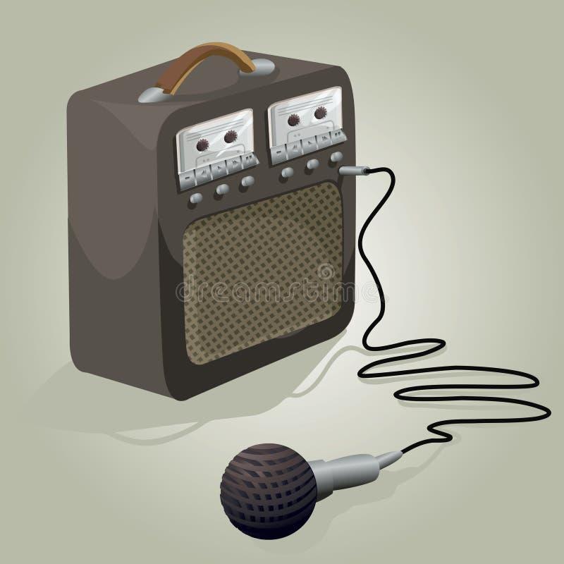 karaoke royalty ilustracja