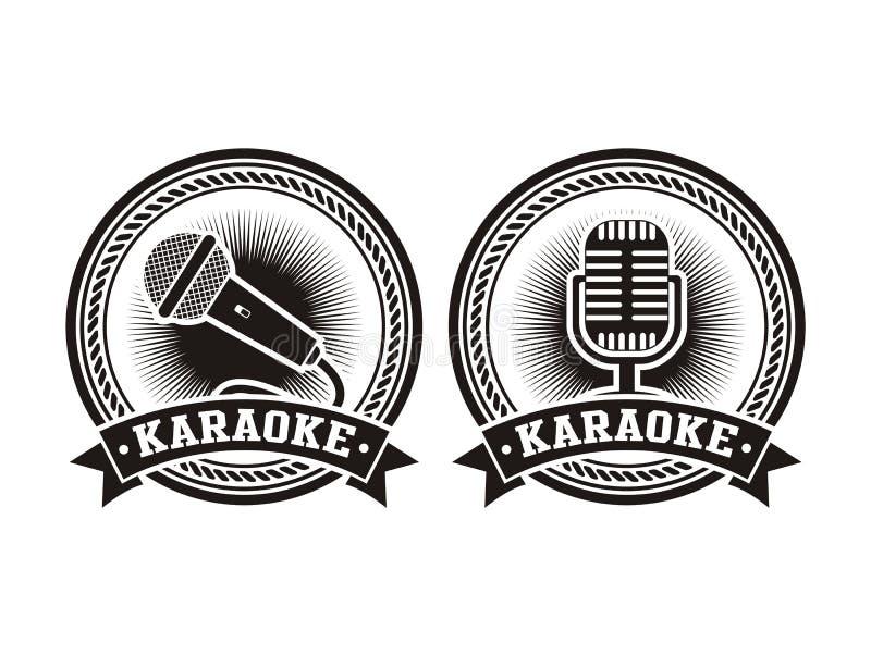 Karaoke badges royalty free illustration