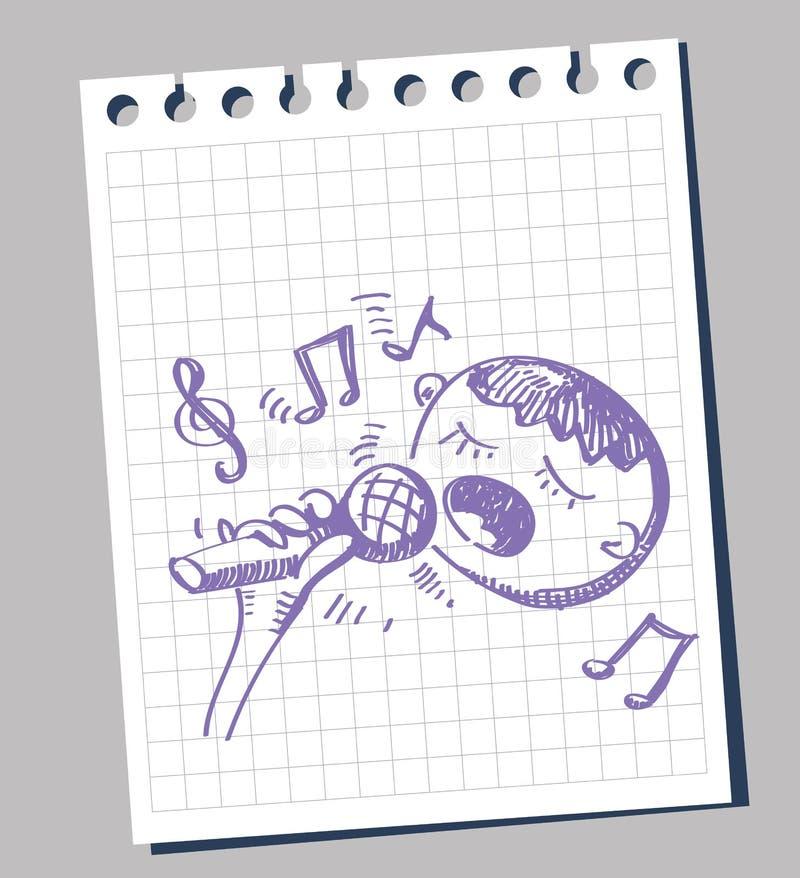 Karaoke da ilustração do vetor ilustração stock