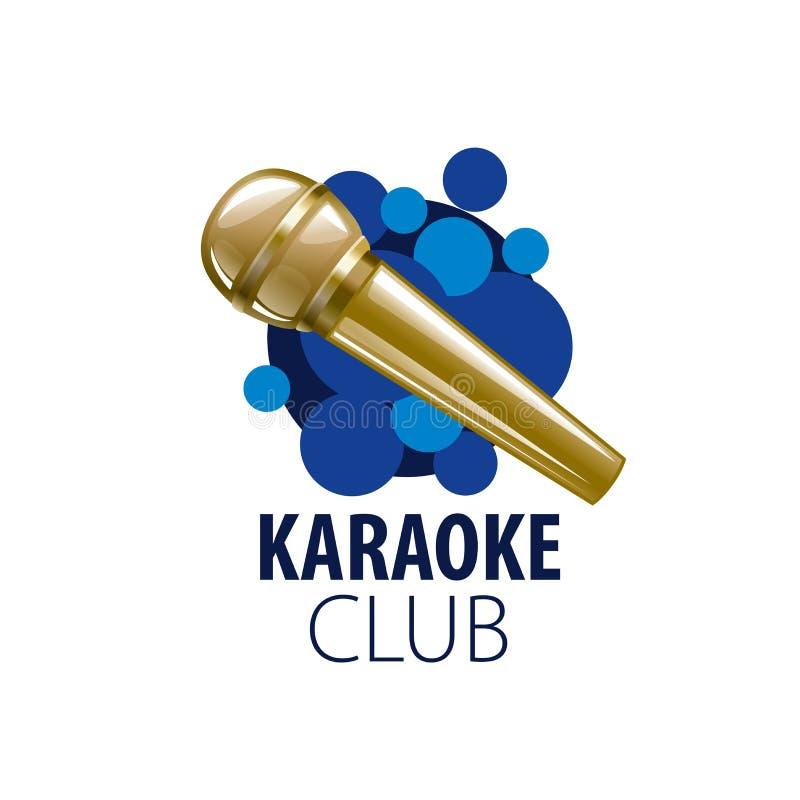 Karaoke del logotipo del vector stock de ilustración