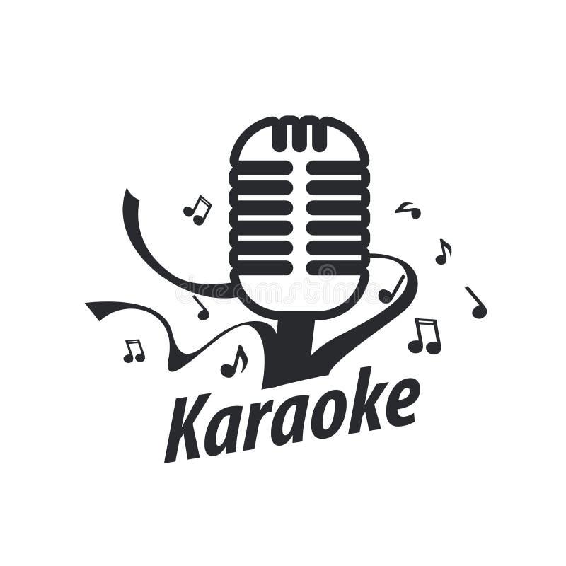 Karaoke do logotipo do vetor ilustração royalty free