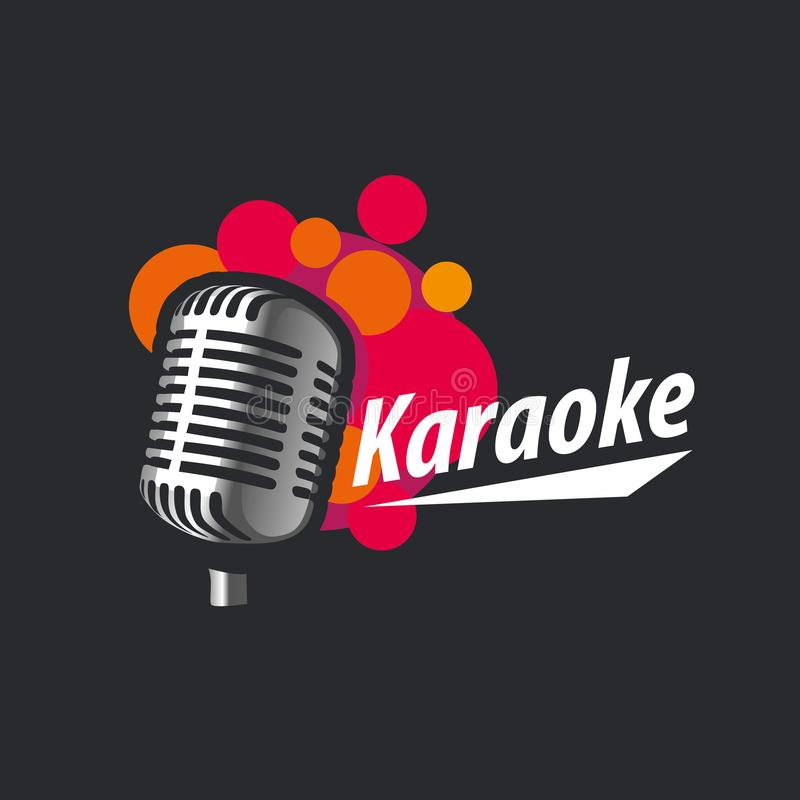Karaoke do logotipo do vetor ilustração do vetor