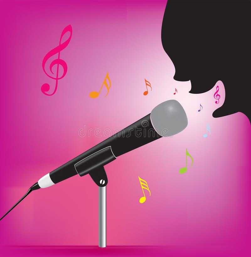 Karaoke het Zingen royalty-vrije illustratie