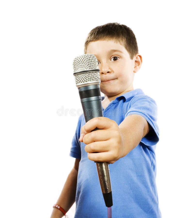 Karaoke Kid Royalty Free Stock Image