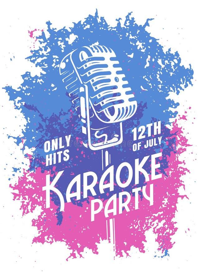 Karaoke moderne affiche royalty-vrije illustratie