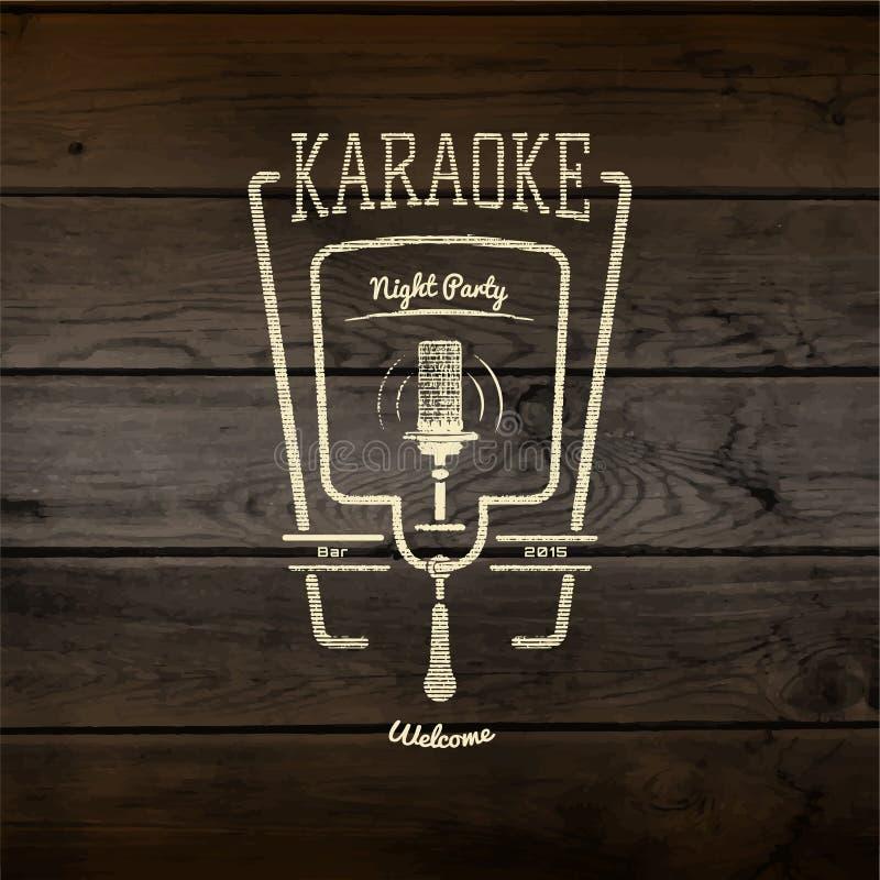 Karaoke odznak partyjni logowie i etykietki dla żadny używają royalty ilustracja
