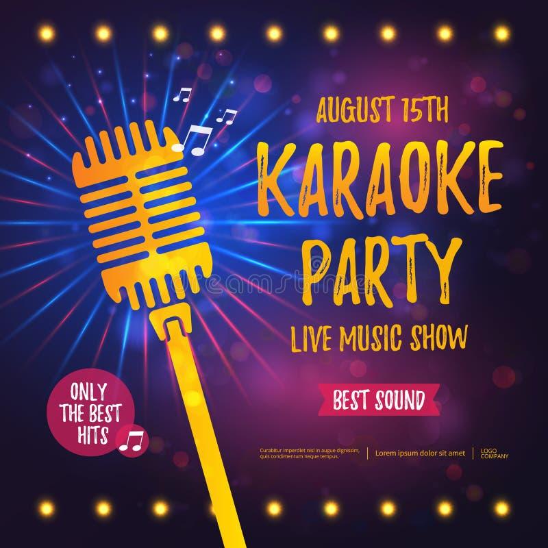 Karaoke Partyjny sztandar ilustracji