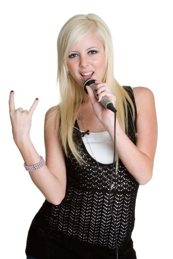 Karaoke-Person stockfotos