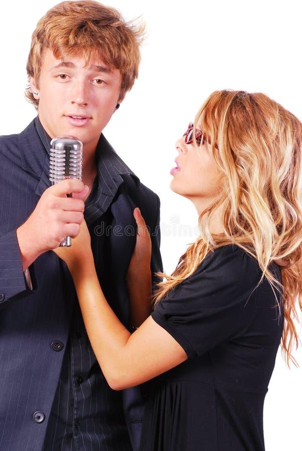 Karaoke Singers Stock Photos