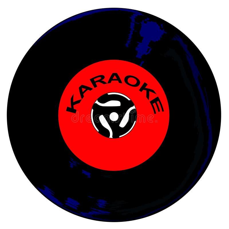 Karaoke 45 t/min-Schijf vector illustratie