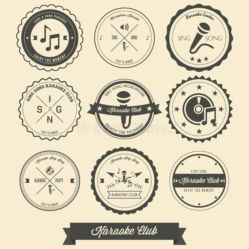 Karaoke Uitstekend Etiket stock illustratie