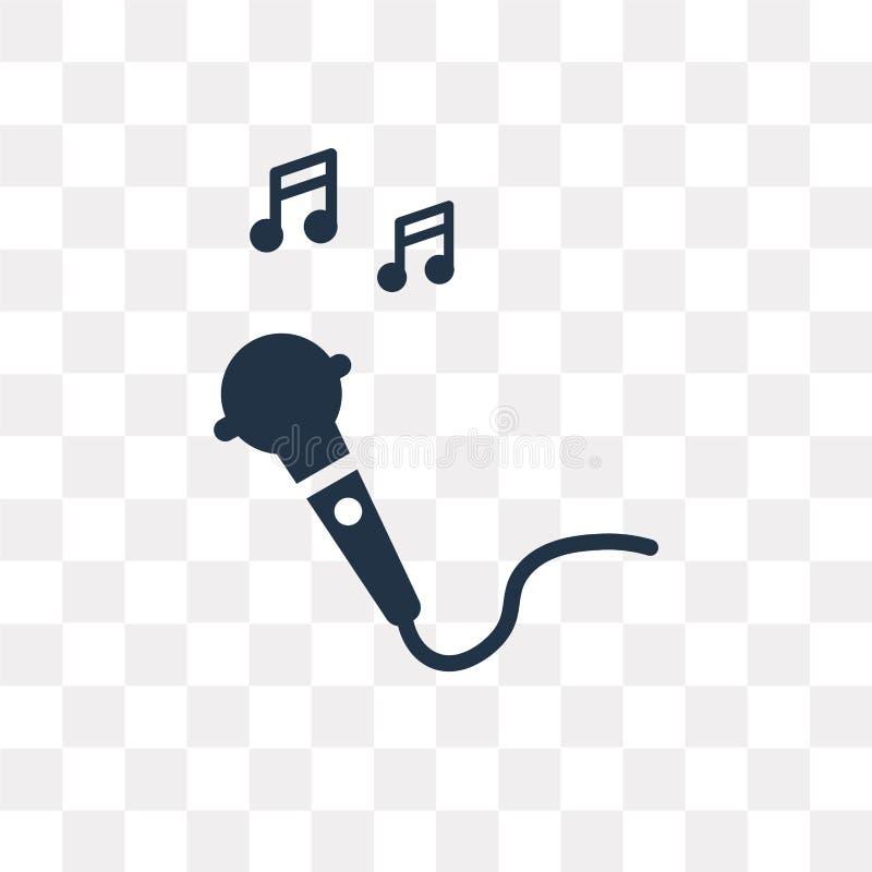 Karaoke vectordiepictogram op transparante achtergrond, Karaoke wordt geïsoleerd vector illustratie