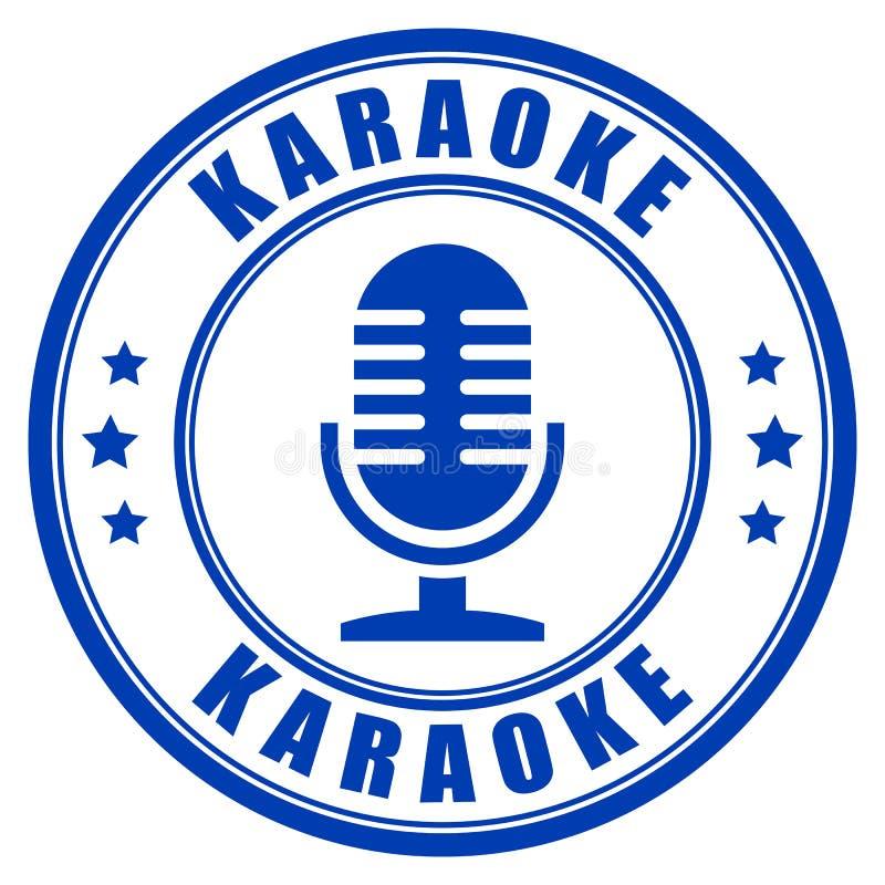 Karaoke vectoretiket stock illustratie