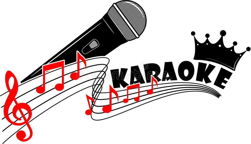 Karaokelogovektor för din design eller journal arkivfoton