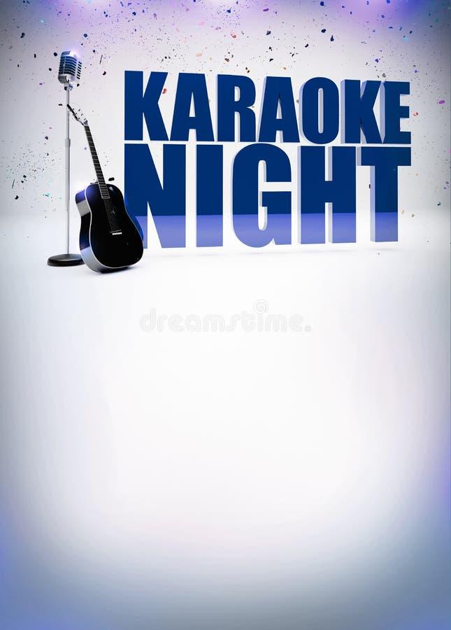 Karaokemusikplakat lizenzfreie abbildung
