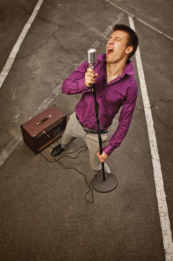 Karaokeonderschrijvingsslip royalty-vrije stock fotografie