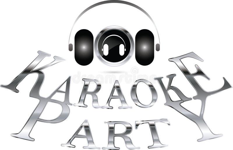 Karaokepartij vector illustratie